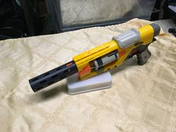 3D Printed Nerf Gun Twist-On barrel Extension Slotted long