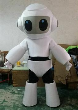 5# Robot Mascot Costume Cosplay Game Dress Outfit Advertisin