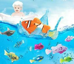 5Pcs Interactive Cat Toy Swimming Robot Fish with LED Light