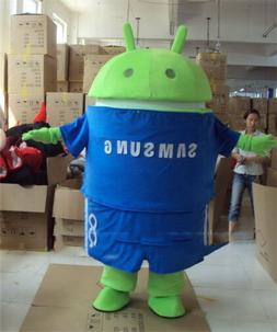 Android Robot Mascot Costume Fancy Adult Dress Cosplay Outfi