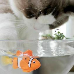 Cat Toy Battery Powered Electric Fish Micro Robotic Funny In