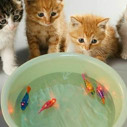 Cat Toy Swimming Robot Fish Battery Powered With LED Light I