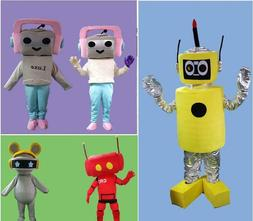 halloween robot mascot costume suits cosplay party
