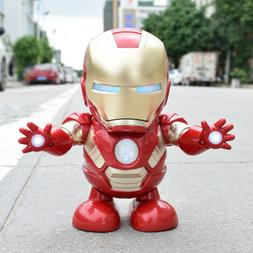 Dancing Iron Man Toys Hand Model Music Light Dance Electric