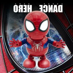 Dancing Spiderman Toys Hand Model Robot Music Light Electric