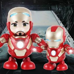 Iron Man Dancing Robot with Light & Music Electronic Robot f
