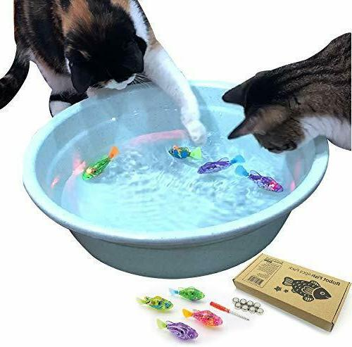 BlackHole Litter Mat Interactive Swimming Robot Fish Toy for