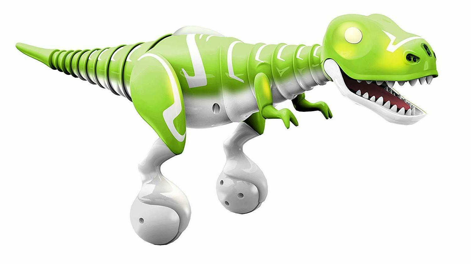 Dino Zoomer Toy Robot Remote Control Green Free