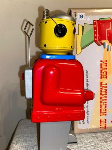 MS645 Red The Mechanical Clockwork Wind Up Tin Toy w/Box