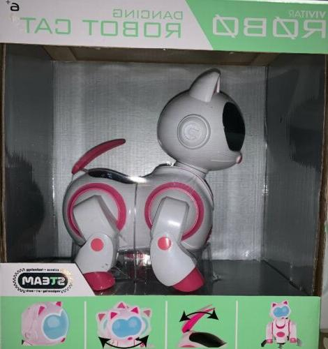 robo dancing robot cat pink and white