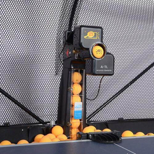 Table Tennis Automatic Ping Pong Machine w/ Net