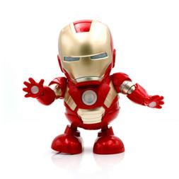 US Cute Toy Man Dancing Music Light Electric Heroic Robot To