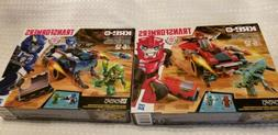 NEW~TRANSFORMERS~ROBOTS IN DISGUISE~SET OF 2~RED 98PCS~BLUE