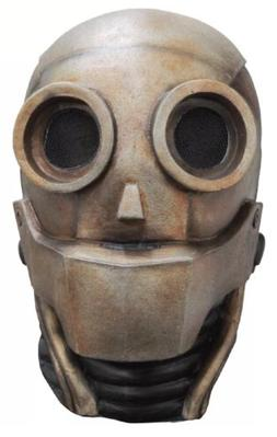Robot 1.0 Android Adult Latex Mask Steampunk Cosplay Friendl