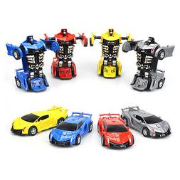 Robot Car Transformers Child Toys Toddler Vehicle Cool Toy F