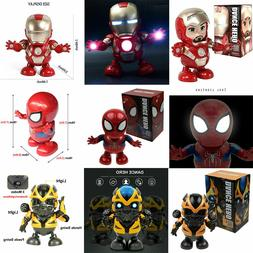 Dance Avengers Transformers Toy Figure Dancing Robot w/LED F
