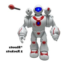 Toy Robot Walks and Shoots 2 Plastic Missiles | Music and So